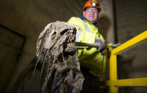Ragging can be defined as the accumulation of intact flushables on sewer defects such as roots
